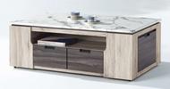 簡單家具,A547-2 菲芮橡木色大茶几(含石面+腳椅X2只),大台北都會區免運費