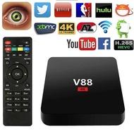 V88 TV Box Rockchip 3229 Quad Core 4K H.265 1GB DDR3 RAM 8GB eMMC ROM Mini PC