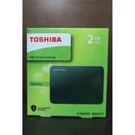 全新 TOSHIBA A3 2TB USB3.0 2.5吋行動硬碟 / 外接硬碟 黑靚潮III 2T