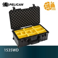 PELICAN 派力肯塘鵝 1535WD Air (含隔層)新款 超輕量氣密箱 黑色 滾輪拉桿箱 公司貨【鴻昌】