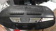 (天) Panasonic RX-DT37手提音響~測試錄音帶左邊可聽 收音機可聽 CD不轉 聲音調整故障 很小聲