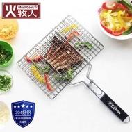 304不銹鋼烤魚網烤肉烤魚夾子網燒烤篦子夾板燒烤工具用品~~ 春季新品特惠