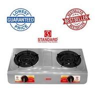 micromatic burner gas stove gas stove double burner Standard SGS-235i 2-Burner Gas Stove (Silver)