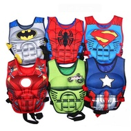 online Children s Super Hero Swimming Jackets Buoyant Vest Baby Kids Floating Iron Man Spiderman Clo