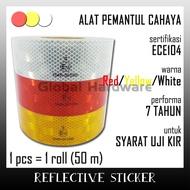 Reflective Sticker Reflective Sticker Reflective Sticker Vehicle Light Reflector Tool KIR Dishub R Test
