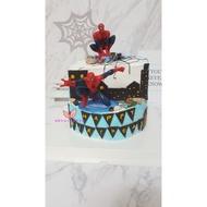 寬媽幸福手作造型蛋糕*蜘蛛人蛋糕,8吋蜘蛛人立體蛋糕,玩具生日蛋糕,減糖,特價