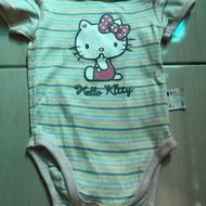 Lativ條紋Hello Kitty包屁衣