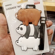 We Bare Bear Luggage Tag Miniso Luggage Tag