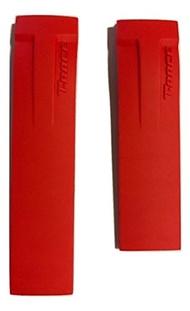 (Tissot) Tissot Men s T-Race 21mm Red Rubber Strap Band for Back Case T048417A-TIS-T610029689