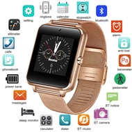 2020 New Stainless Steel Bluetooth Smart Watch Women Men Sport Waterproof SmartWatch LED Color Touch Screen Watch Support SIM TF