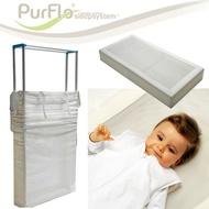 英國攜帶型嬰兒床墊/可拆卸/寶寶床墊/童床寢具-120cmX60cm PURFLO【小丁婦幼】