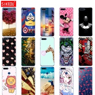 outlet silicone case for huawei Y6 2018 case cover for huawei Y 6 Prime 2018 case back mobile phone