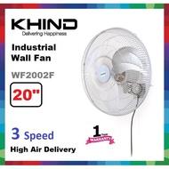 "kipas dinding kipas dinding kdk KHIND 20"" Industrial Wall Fan WF2002F / Kipas Dinding"