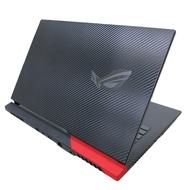 【Ezstick】ASUS ROG Strix G17 g713 黑色卡夢紋機身貼 (含上蓋貼+鍵盤週圍貼) DIY包膜