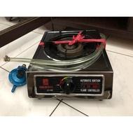 單口瓦斯爐二手附贈瓦斯防爆調節整器更安全