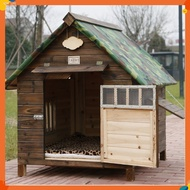 Dog House Dog House Cat House Dog Cage Dog House Pet House Dog House Outdoor Solid Wood Dog House Kennel Waterproof Leakproof Dog Cage For Small Medium Large Dogs Cats House With Door Window