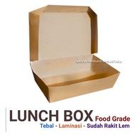 Large Food Grade Lunch Box Lamination Kraft Paper Lunch Box