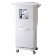 diese-diese|RISU H&H 直立雙層分類附輪(雙蓋)式垃圾桶 45L