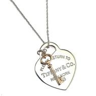 Tiffany Return To Tiffany 925純銀愛心Rubedo金色鑰匙墜飾項鍊