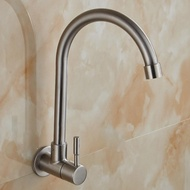 水龍頭-水龍頭單冷掛牆壁入牆式304不銹鋼水槽廚房洗菜盆萬向陽台洗衣池