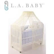 L.A. Baby豪華全罩式嬰兒床蚊帳(加大加長型)淺黃色