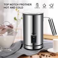 สแตนเลสเครื่องตีนมไฟฟ้าอัตโนมัติเครื่องตีทำฟองครีมSteamerเครื่องทำความร้อนสำหรับกาแฟร้อนนมเย็น