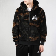 Nike air Jordan 黑棕 絨毛 男款 連帽外套 CD4830-237