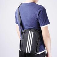 ADIDAS PLTORG 3 銀黑 線條 百搭 中性 直式雙層 實用 運動休閒 側背包 S02196