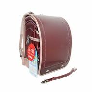 2019年新款日本協和製可可色搭珍珠米色自動上鎖小學生書包(活動式提把)(現貨在台)工藝設計小學生書包/兒童書包/開學用品