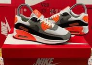 """[ส่งฟรี ส่งเร็ว1-3วัน] รองเท้าผ้าใบNike Airmax 90 """"WhiteOrange"""" Size37-45 สินค้าพร้อมกล่อง เปรี่ยน Size ได้"""