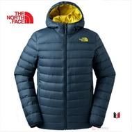 -滿3000免運-[雙和專賣店]The North Face 男700 fill雙面兜帽羽絨外套/可套接/3KTE/墨藍