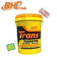 18 LITER BHP 15W40 DIESEL ENGINE OIL TRANS TURBOTEC