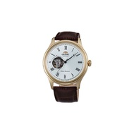 ORIENT Men Automatic Watch Classic Gold Leather Strap AG00002W0