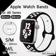 hot สายนาฬิกา Apple Watch ซีรีย์ 1 2 3 4 5 6 SE (42 mm 44mm) สาย นาฬิกา Nike - สายนาฬิกา Replacement Silicone Nike Sport Band for Series 1 2 3 42 mm ซีรีย์ 4 5 6 SE 44mm