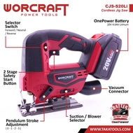 Worcraft OnePower Cordless Jig Saw (Tool Only, without battery and charger)