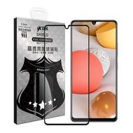 VXTRA 全膠貼合 三星 Samsung Galaxy A42 5G 滿版疏水疏油9H鋼化頂級玻璃膜(黑) 玻璃保護貼