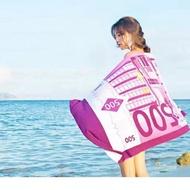 鈔票毛巾 500歐元 100美金 毛巾 浴巾 沙灘巾