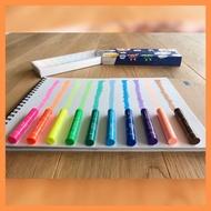 日本KOKUYO螢光蠟筆 透明蠟筆 安全蠟筆
