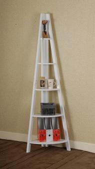 簡單生活角落五層架-白/W39xD39xH180cm
