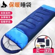 【現貨】⊙睡袋成人冬季戶外加厚露營保暖防寒四季室內兒童防踢被大人睡袋