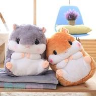 福利品 倉鼠兩用抱枕毯 毛毯