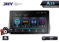 【JD汽車音響】JHY A23 TOYOTA WISH 2010~ 10吋安卓專用主機。安卓系統9.0/內建DSP處理器