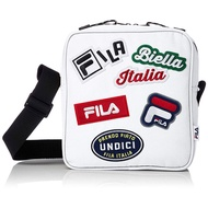 FILA 日本限定 FM2143 FILA LOGO PATCH SHORLDER BAG 帆布 方包 / 側背包 白色