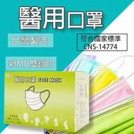 [台灣出貨] 台灣製MD雙鋼印 善竹醫用口罩  醫療口罩 大人兒童口罩 不起毛球 MIT平面外科 50入 檢驗合格 口罩