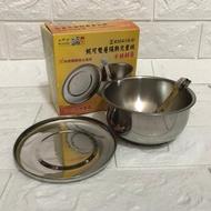 妮可雙層隔熱兒童碗(不鏽鋼蓋可緊密不掉落)附湯匙 台灣製造 無捲邊不藏污 學習餐具 幼兒園指定使用