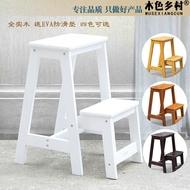 梯子實木家用梯子兩步摺疊梯凳 兩用登高凳蹬梯二步梯換鞋凳FA
