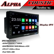 จอ 2 Din 7นิ้ว RAM 2GB LED No Cd Android Alpha Coustic Android Version 9.1