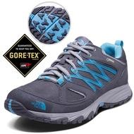 【美國 The North Face】女新款 Gore-Tex防水透氣耐磨輕量登山鞋/UltrATAC橡膠外底/越野鞋/2YBE 黑/藍 N
