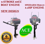 BE63 4-Stroke Boat Engine / Portable Outboard Motor 63cc