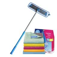 英國e-cloth 深層清潔除菌抗過敏 - 輕量級拖把150cm + 科技清潔布超值五件組